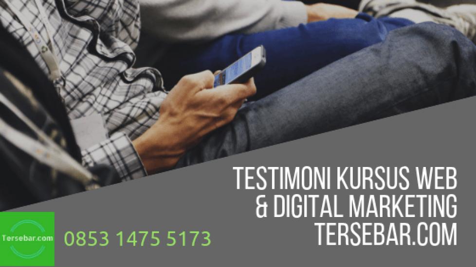 Testimoni kursus web & digital marketing tersebar-com